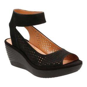 Clark's Reedly Salene Wedge Sandal 8.5